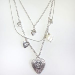 ADORNE SILVER LAYER NECKLACE