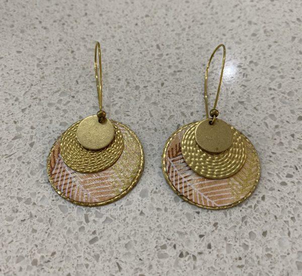 Libby-Lou Earrings Circle Peach