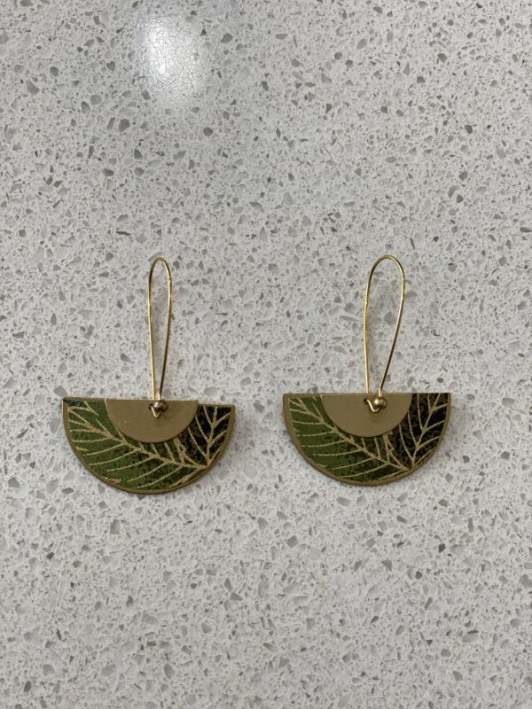 Libby-Lou Earrings palm Leaf