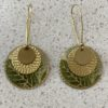 Libby-Lou Earrings Circle Palm Leaf