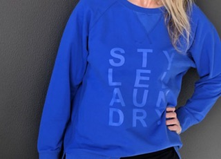 Style Laundry Classic Sweat Top Blue