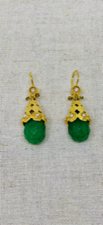 Ruby and Myrtle Pear Drop Green Earring