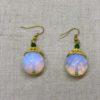 Ruby and Myrtle Moonstone Earrings