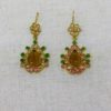 Ruby and Myrtle Jade, Coral & Citron Earrings