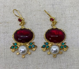 Ruby and Myrtle Earrings