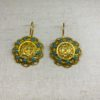 Ruby and Myrtle Gold & Turquoise Earrings