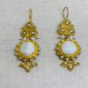 Ruby and Myrtle Gold, Cream & Pearl Earrings