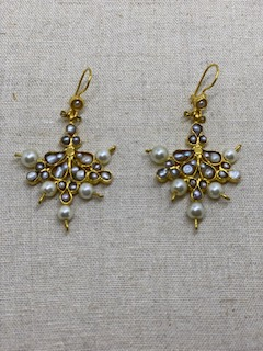 Ruby and Myrtle Gold & Pearl Earrings