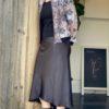 White Closet Bias Cut Skirt Black