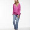 Zacket & Plover V Neck Pullover Pink