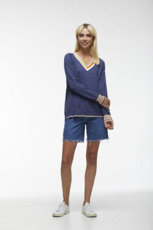 Zacket & Plover Stripe V Neck Pullover