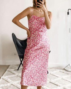 Ebby & I Emerce Slip Dress Pink