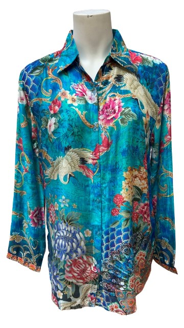 Cienna Floral Crane Shirt